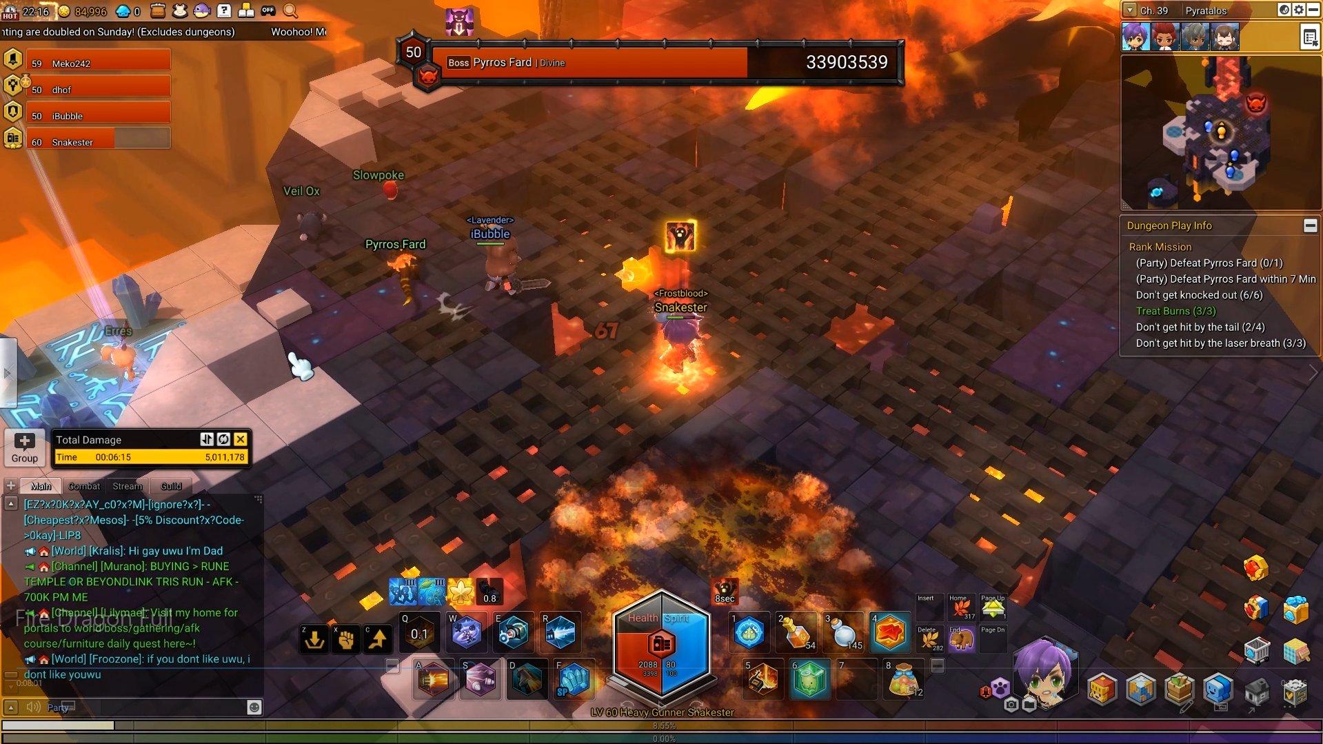 MapleStory 2 Fire Dragon Holes