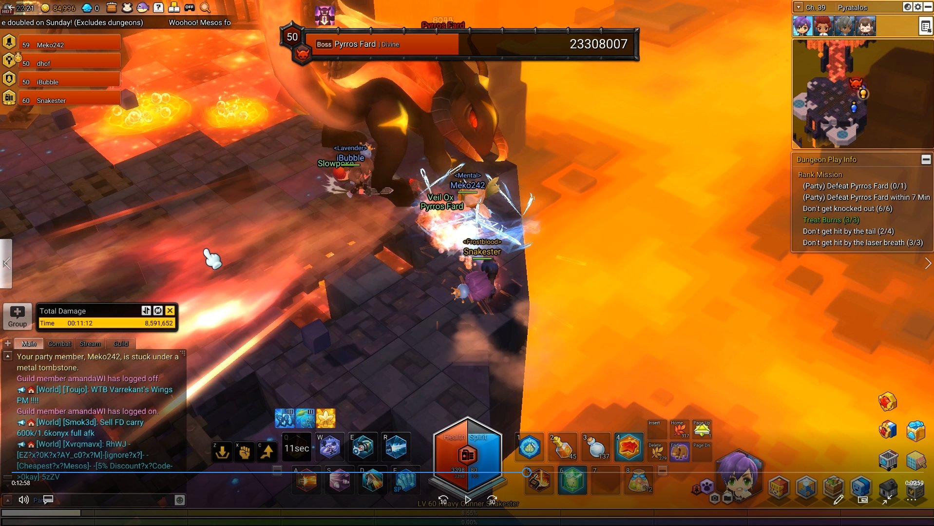 MapleStory 2 Fire Dragon Tail Slam Tip