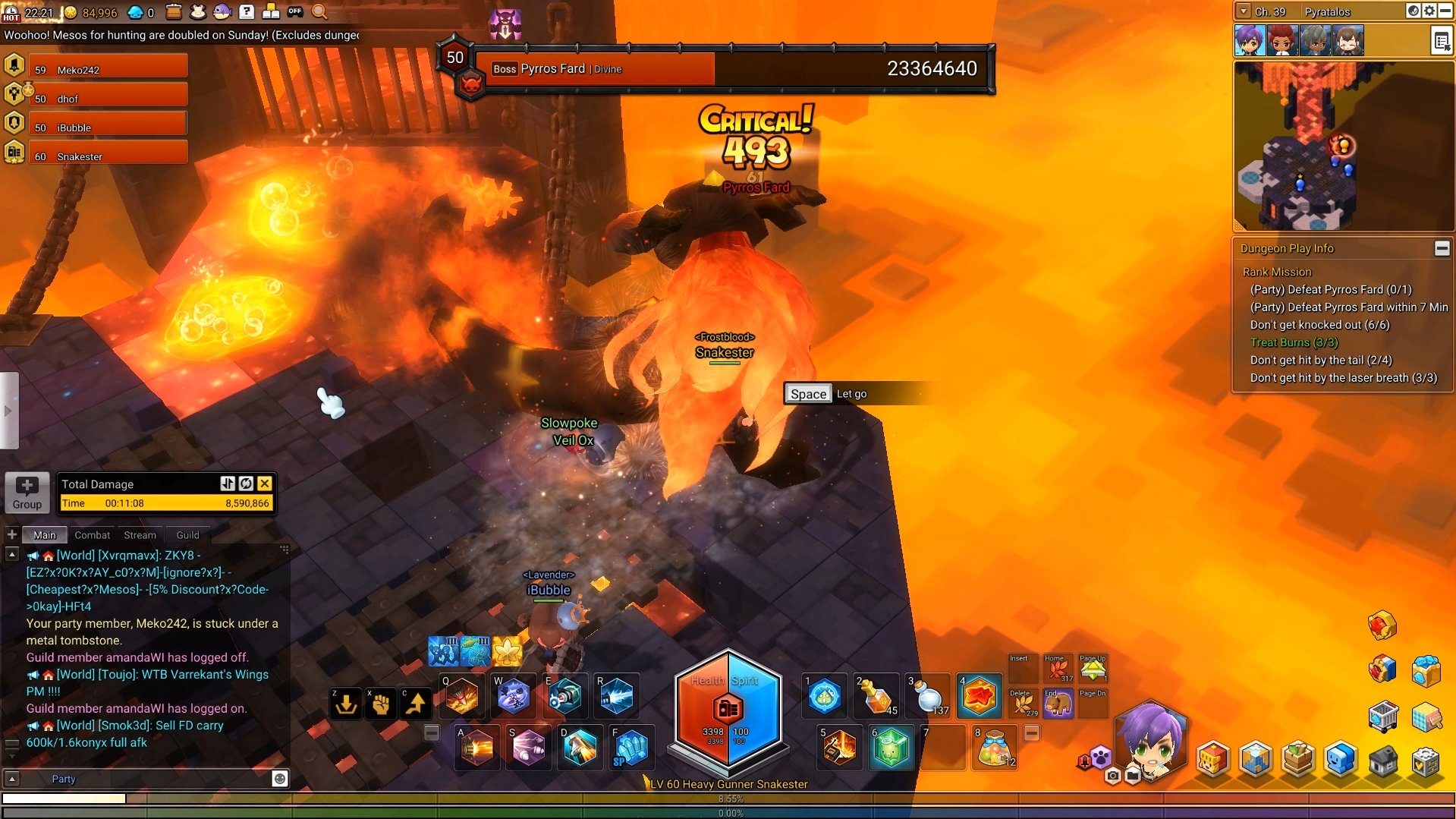 MapleStory 2 Fire Dragon Tail Whip