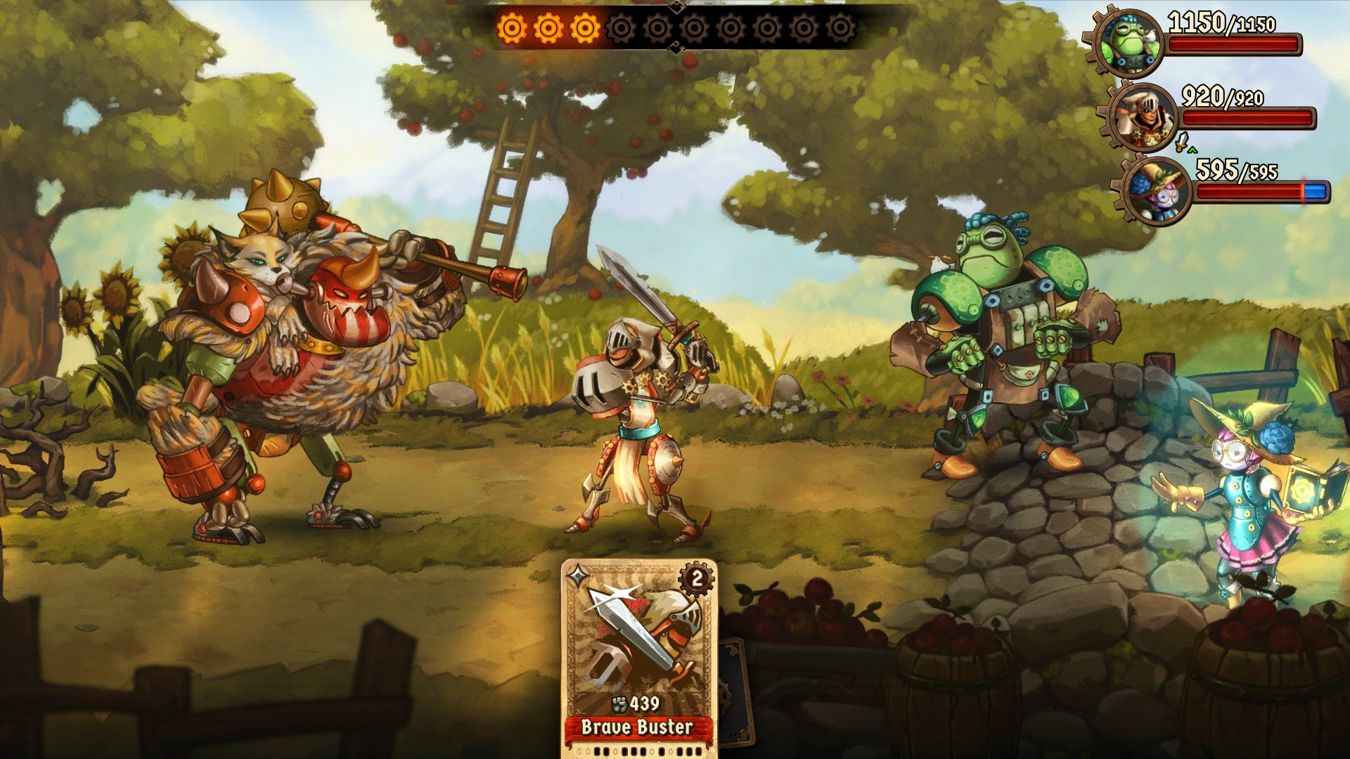 SteamWorld Quest Combat Screenshot