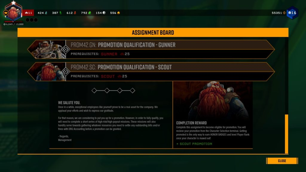 Deep Rock Galactic Promote Assignment