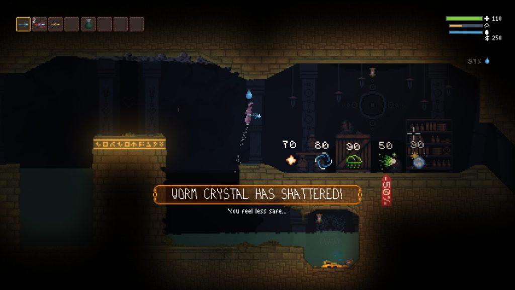 Noita Worm Crystal Has Shattered