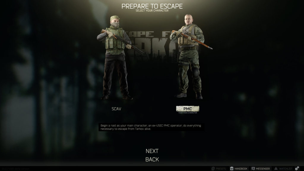 Escape From Tarkov PMC SCAV
