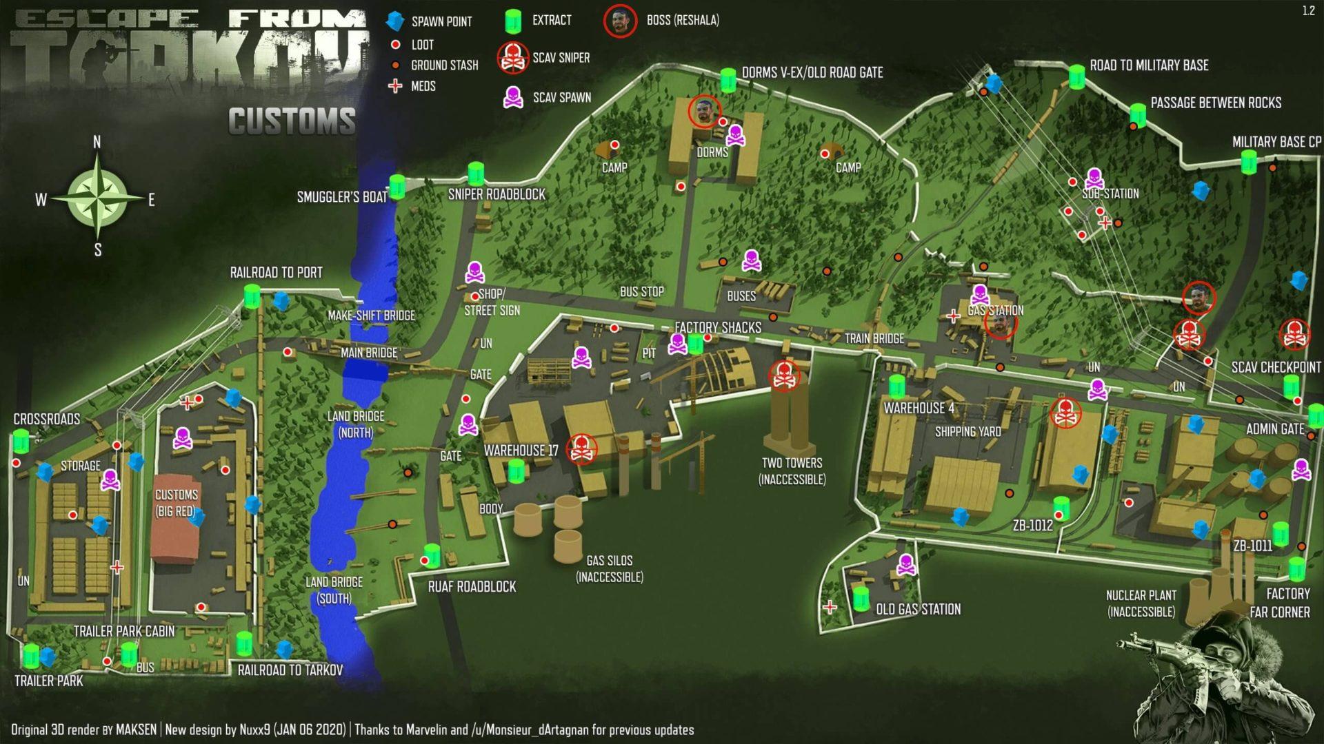 Tarkov Maps