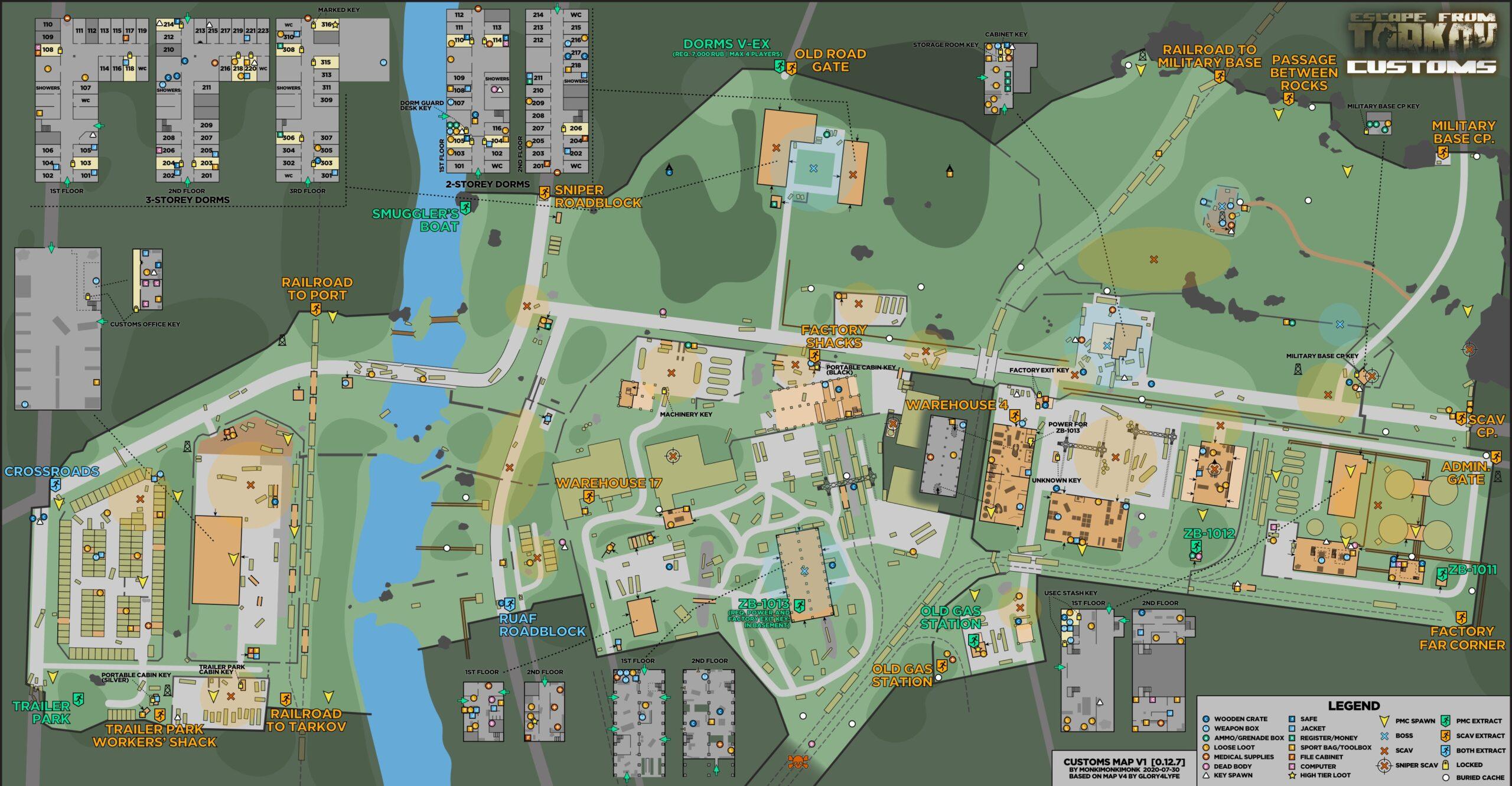 Escape from Tarkov Customs Map 2021 2