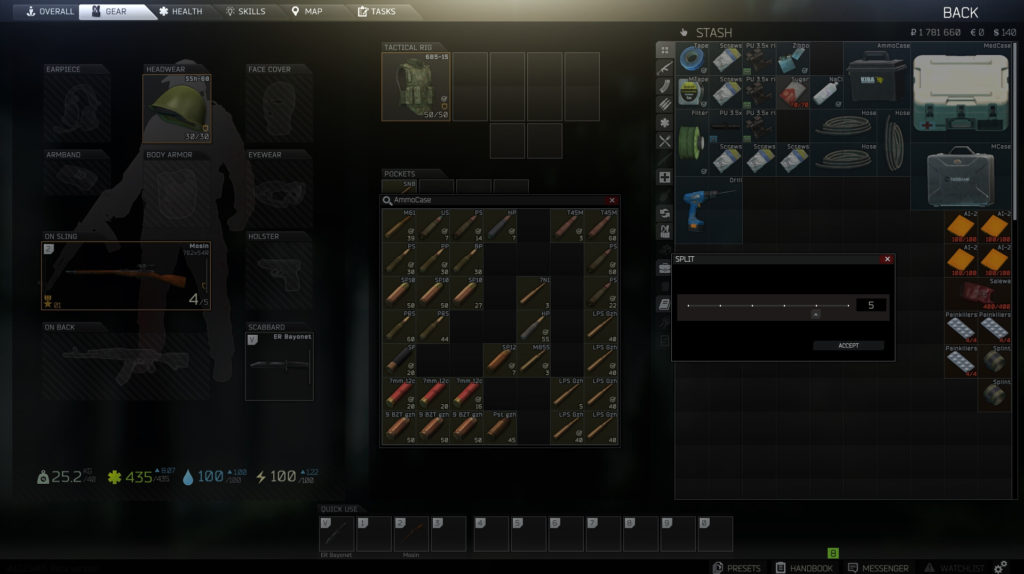Escape from Tarkov Split Ammo