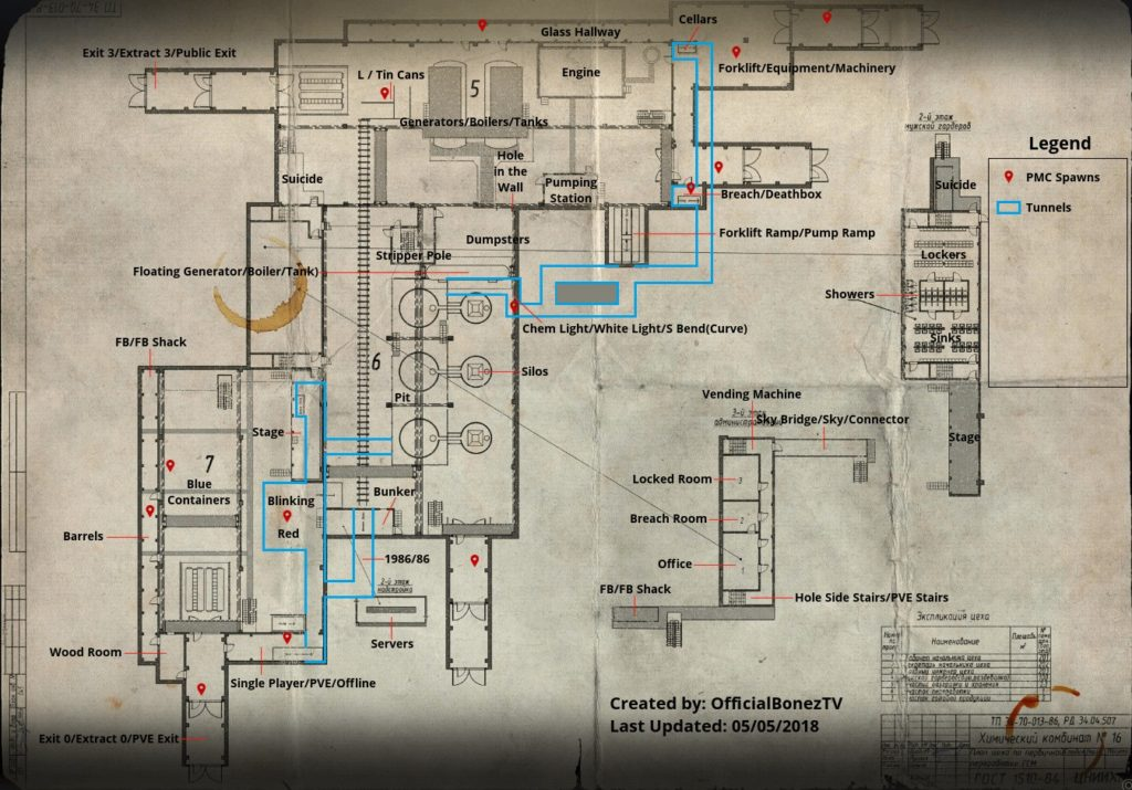 Factory Map 2020