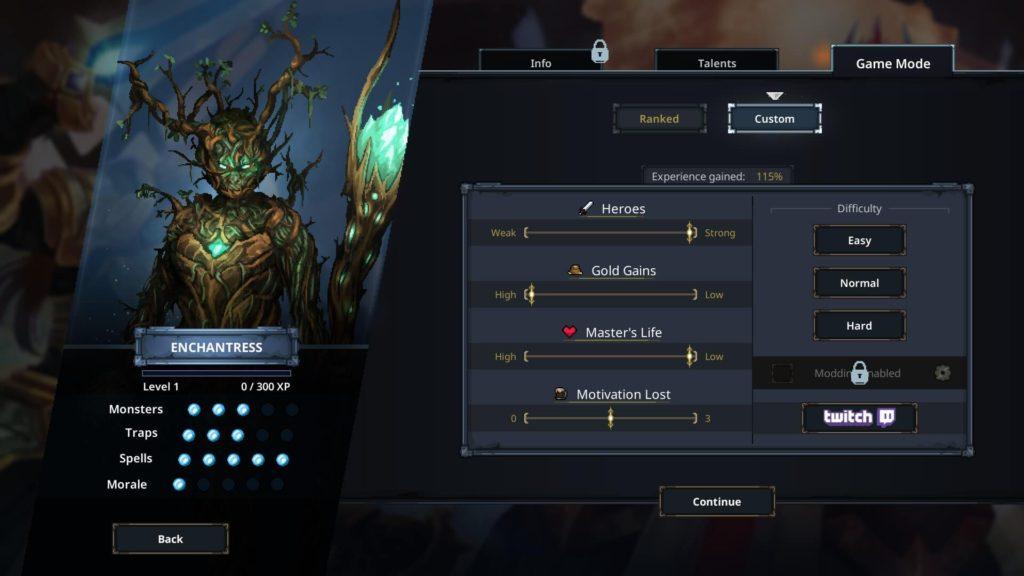 Difficulty Screenshot