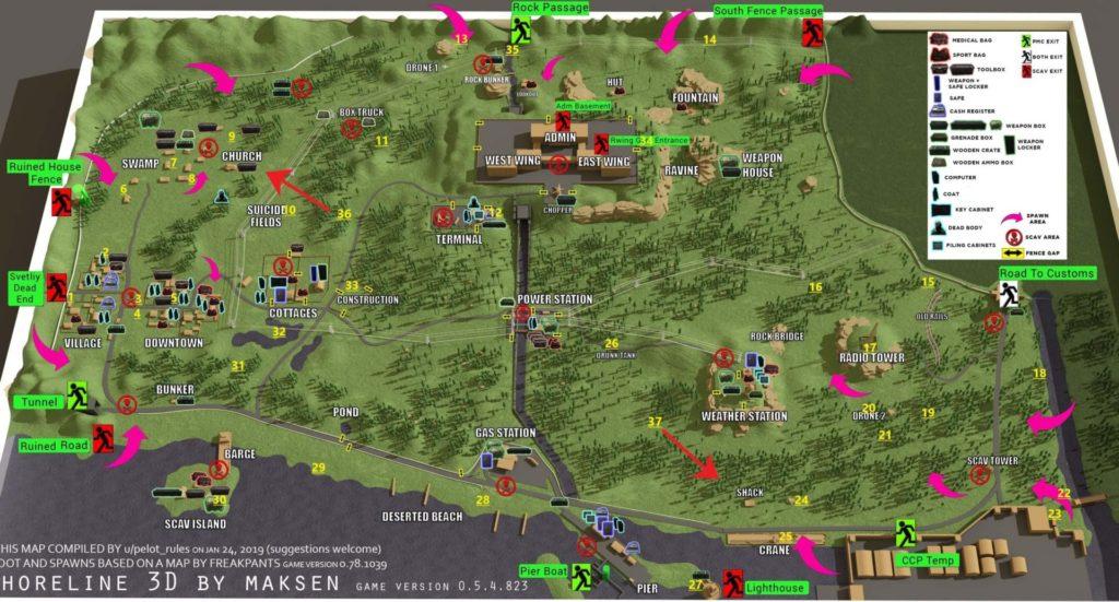 Escape from Tarkov Shoreline Map 2020