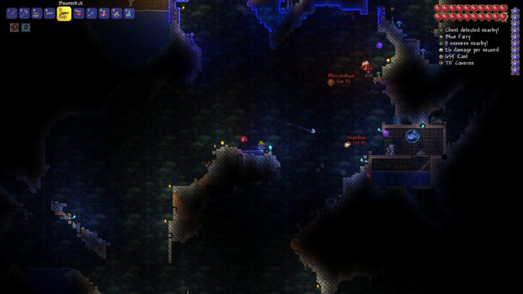 Terraria Blue Fairy Underground