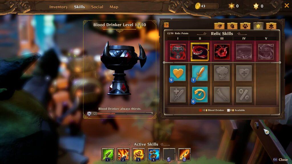 Torchlight 3 Relic Blood Drinker