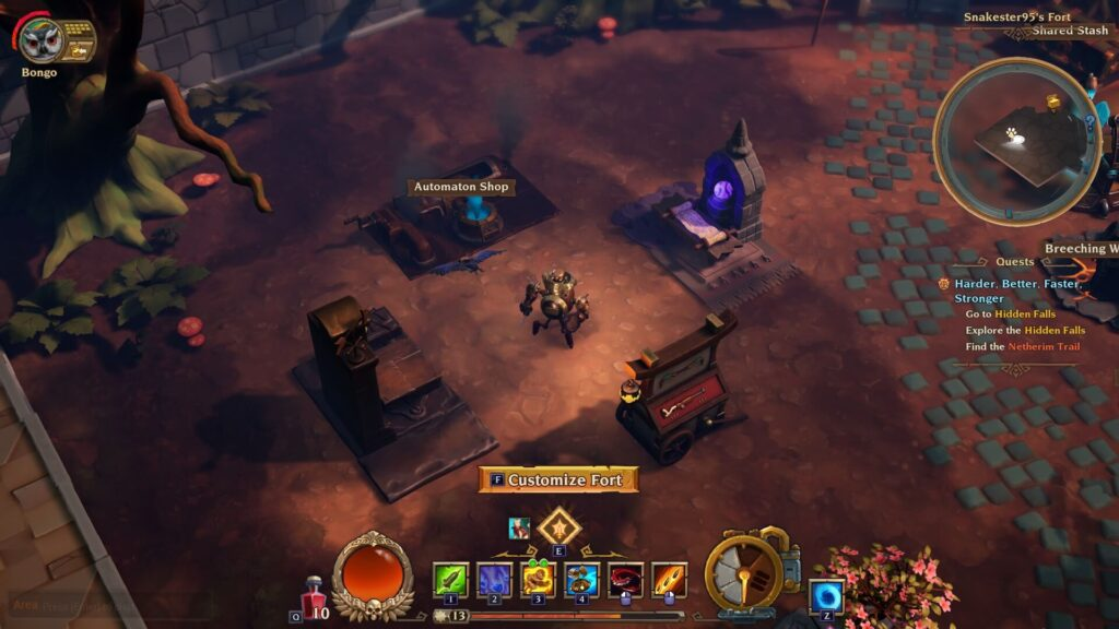 Torchlight 3 Respec Fort Tables