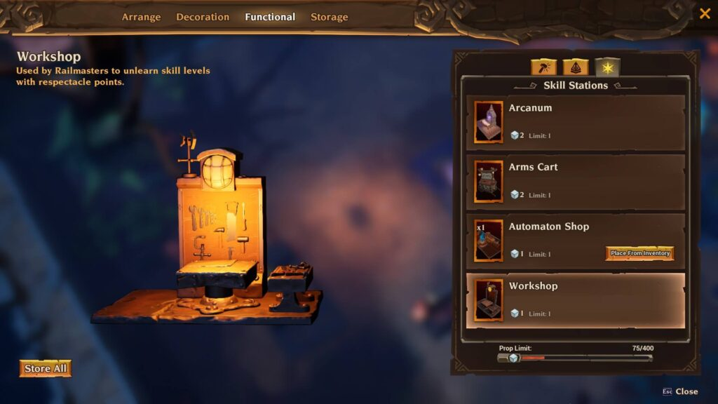 Torchlight 3 Respec Workshop