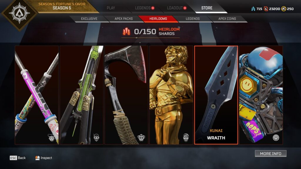 Apex Legends Heirlooms