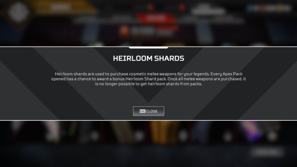 Apex Legends How to get Heirloom Shards