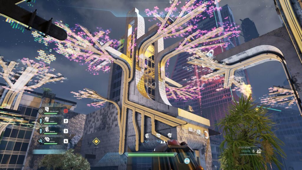 Virtual Cherry Blossom Tree in a City