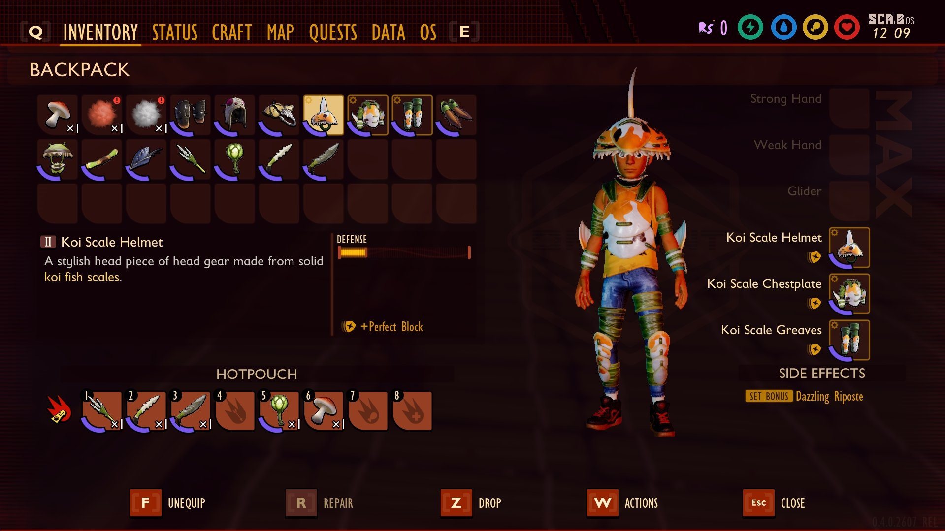 Grounded Koi Armor Set