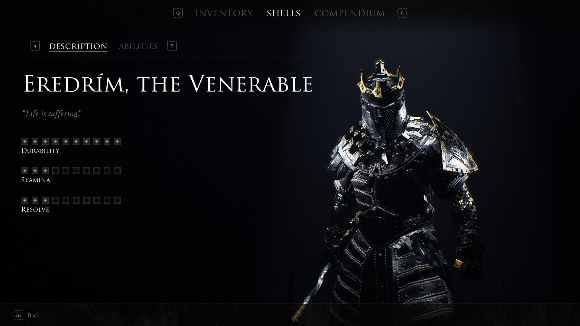 Mortal Shell - Eredrim, the Venerable