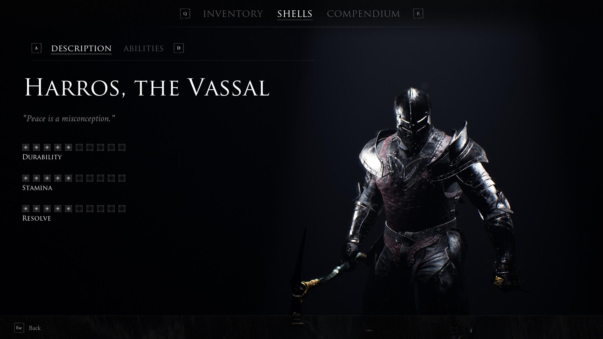 Mortal Shell - Harros, the Vassal