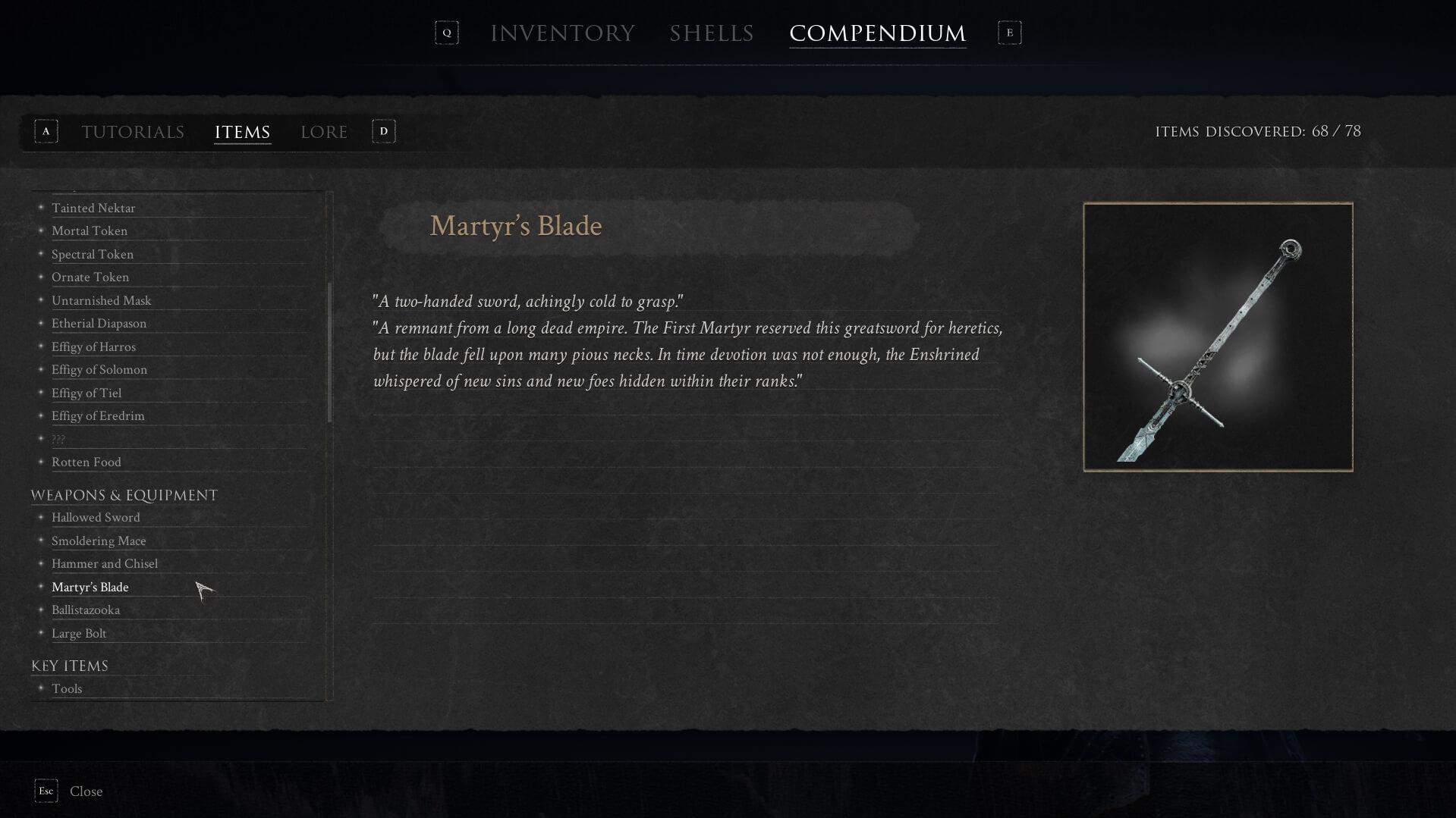Mortal Shell - Martyr's Blade