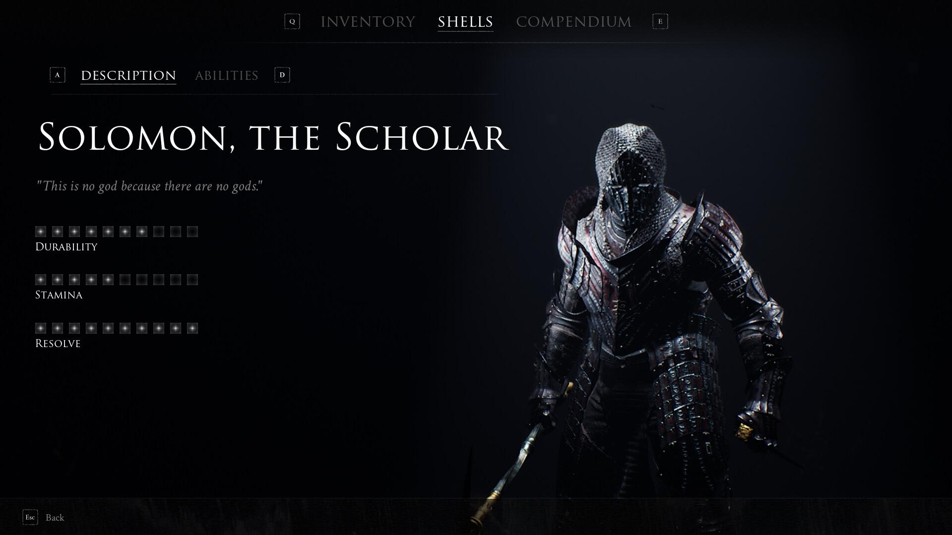 Mortal Shell - Solomon, the Scholar
