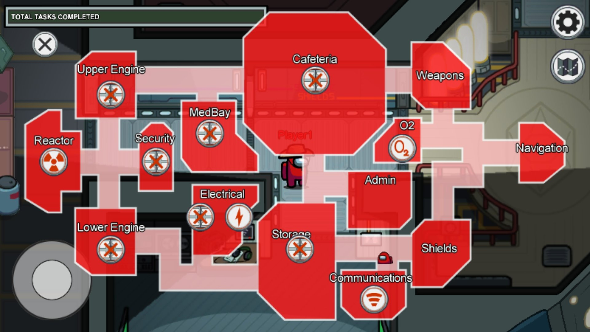 Among Us Sabotage Map