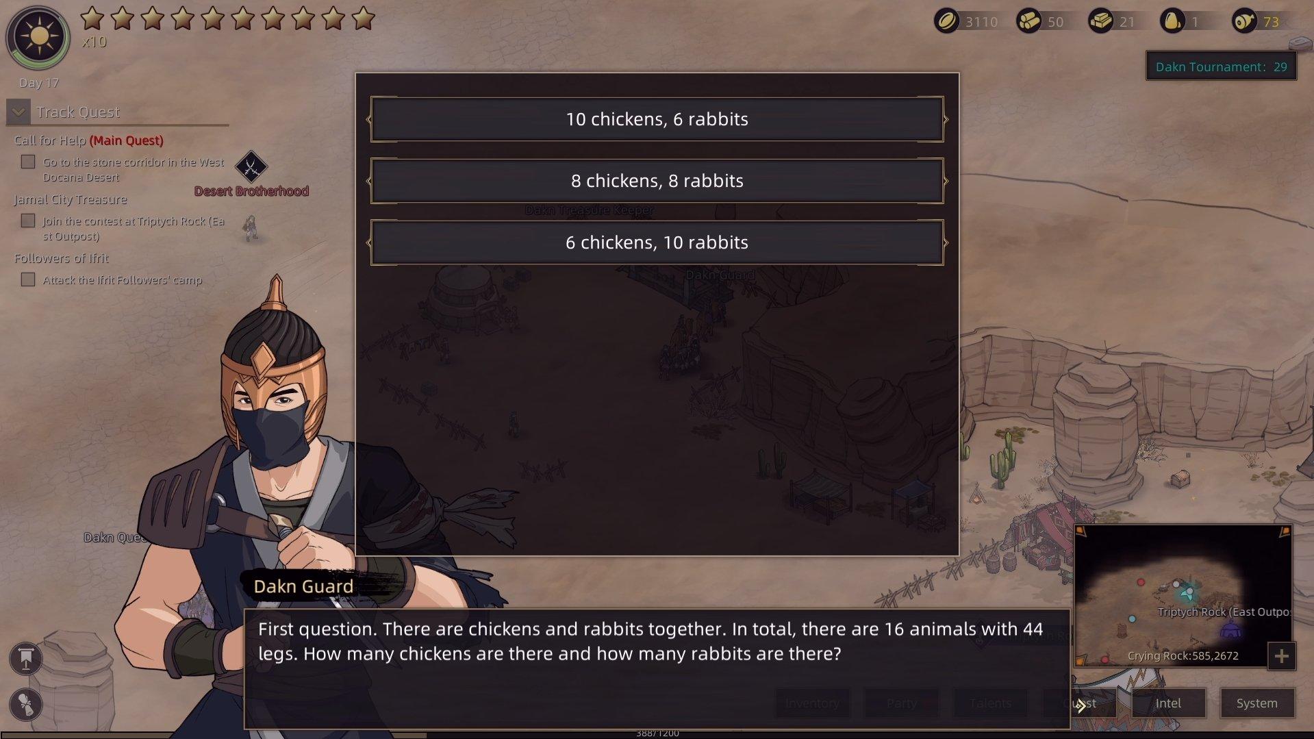 Sands of Salzaar - Chicken Riddle