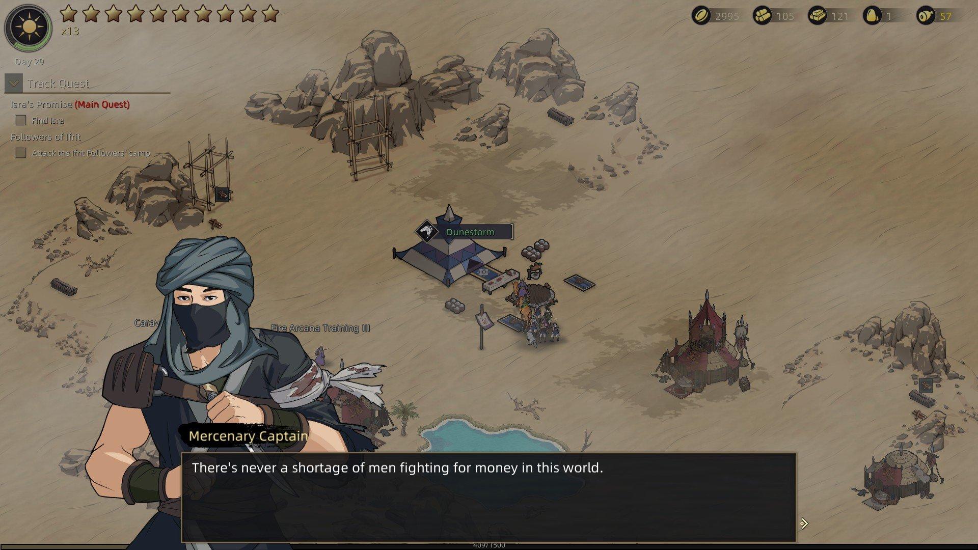 Sands of Salzaar - Mecenary Captain Recruiting
