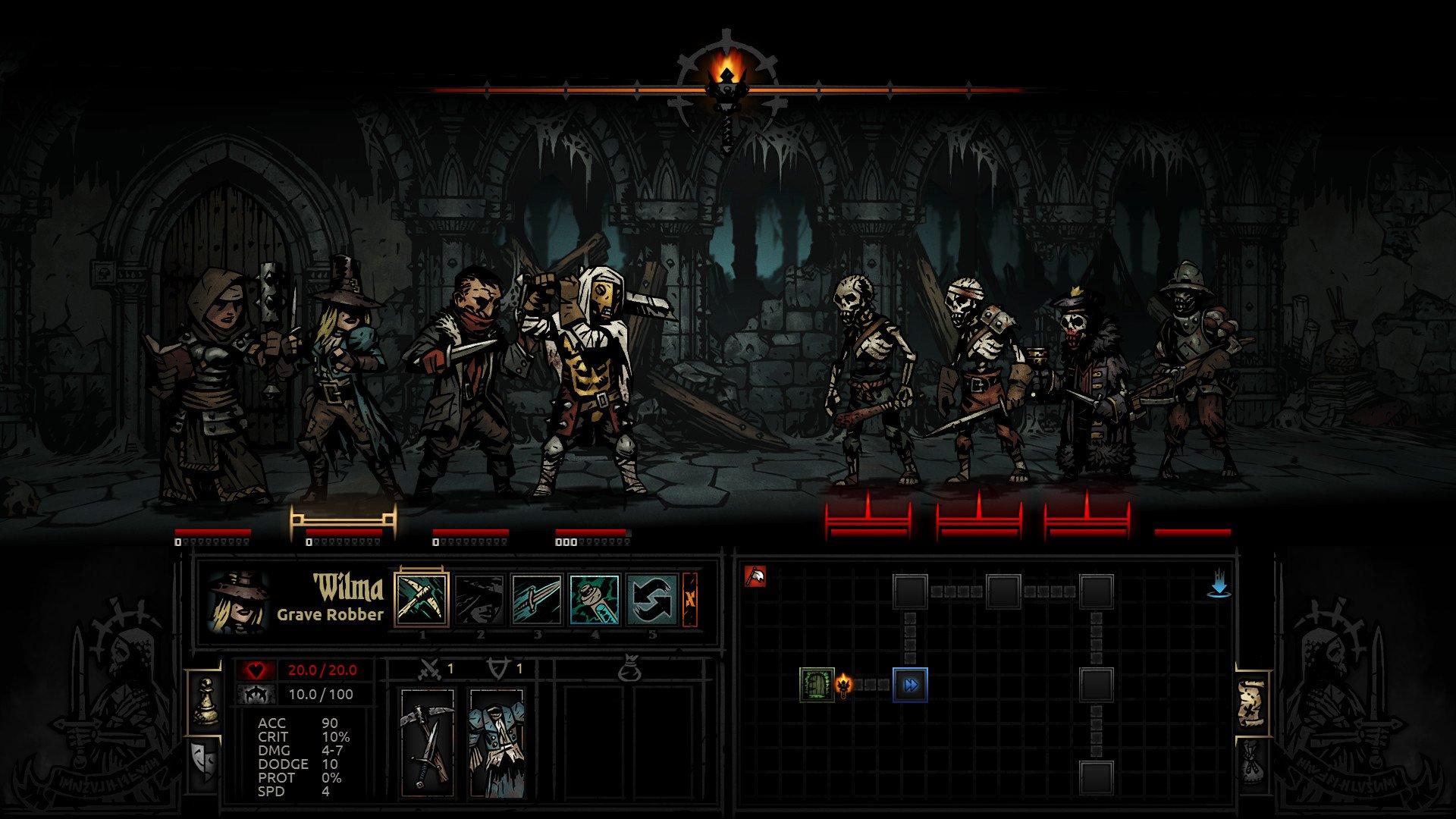 Darkest Dungeon Screenshot Roguelike