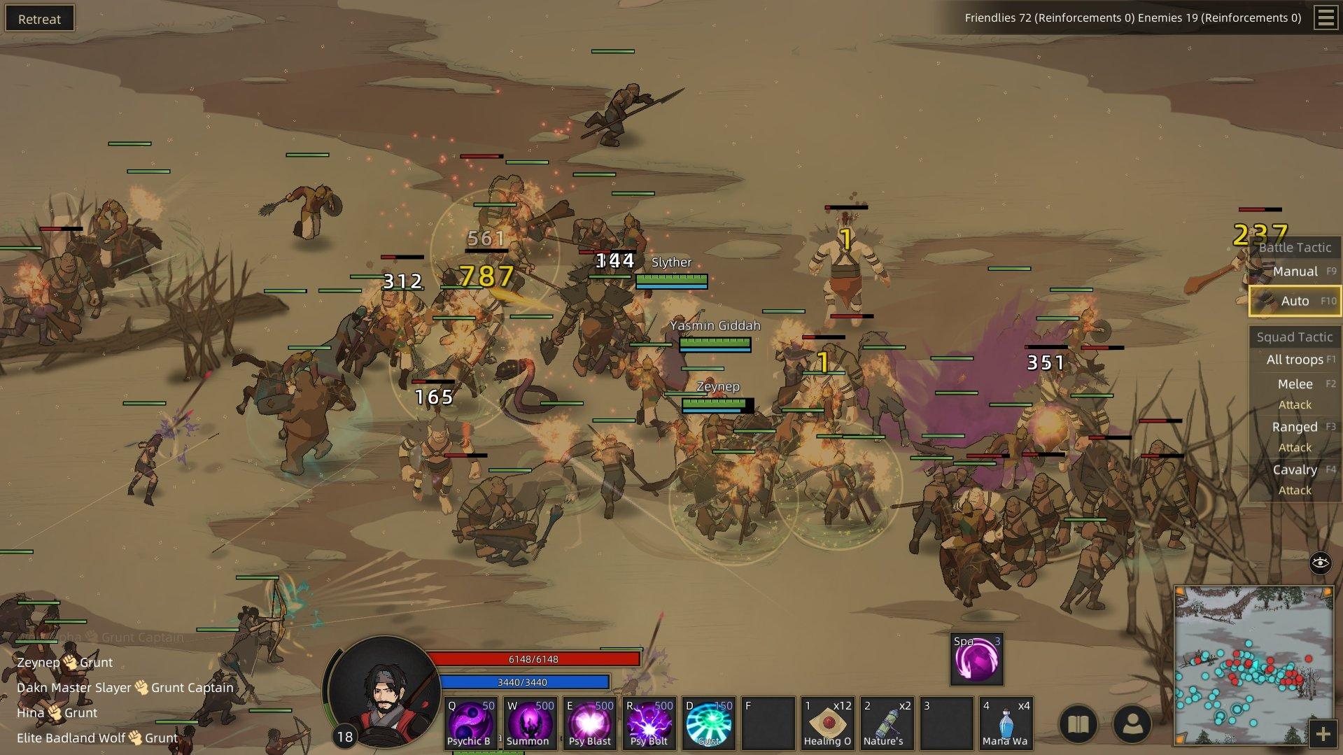 Sands of Salzaar - Battle Screenshot
