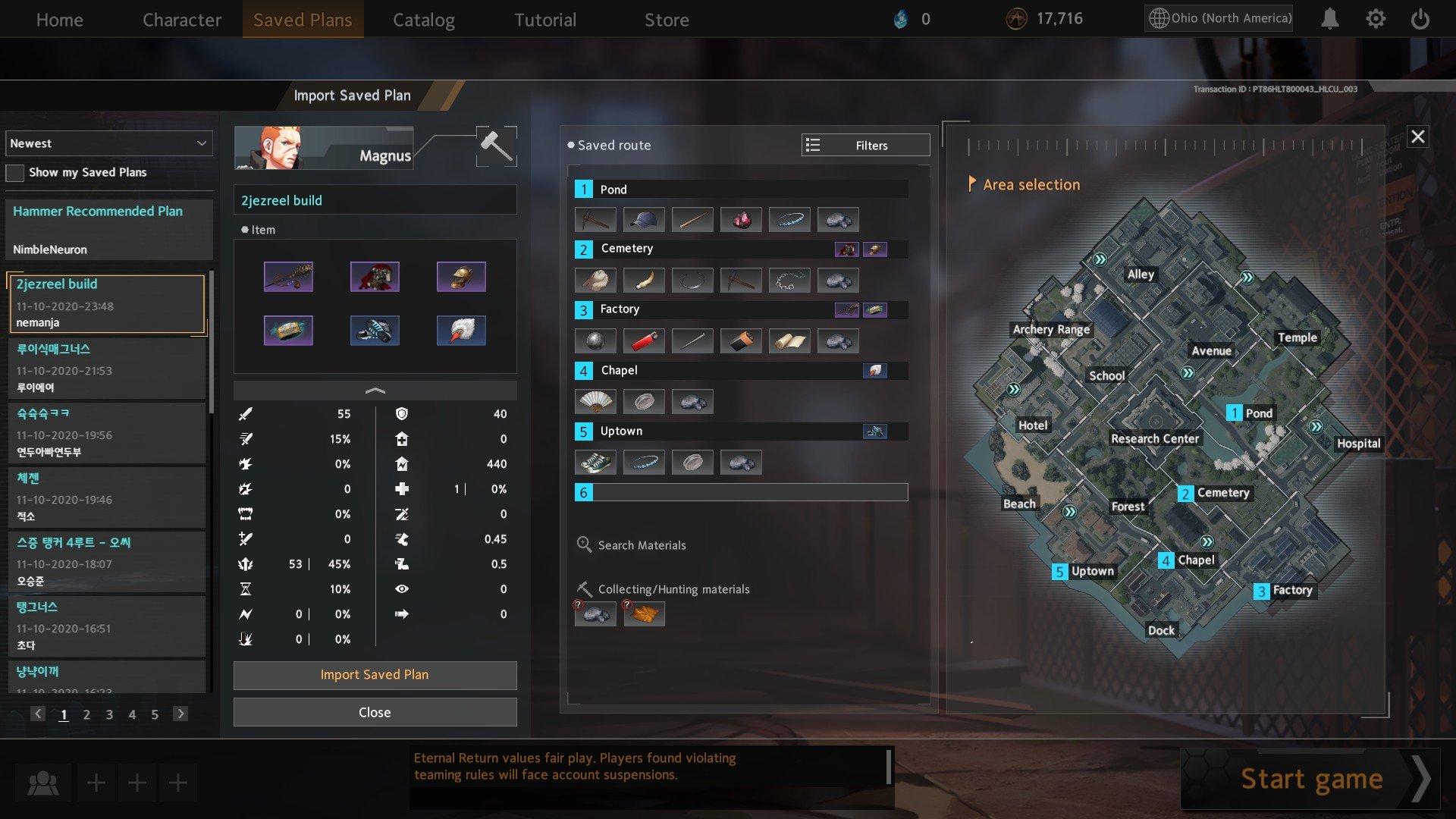 Eternal Return Black Survival Best Builds