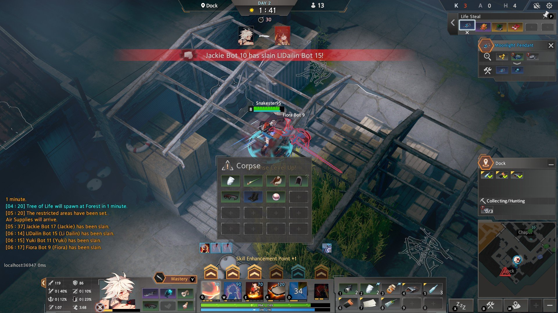 Eternal Return Black Survival Inventory Tip
