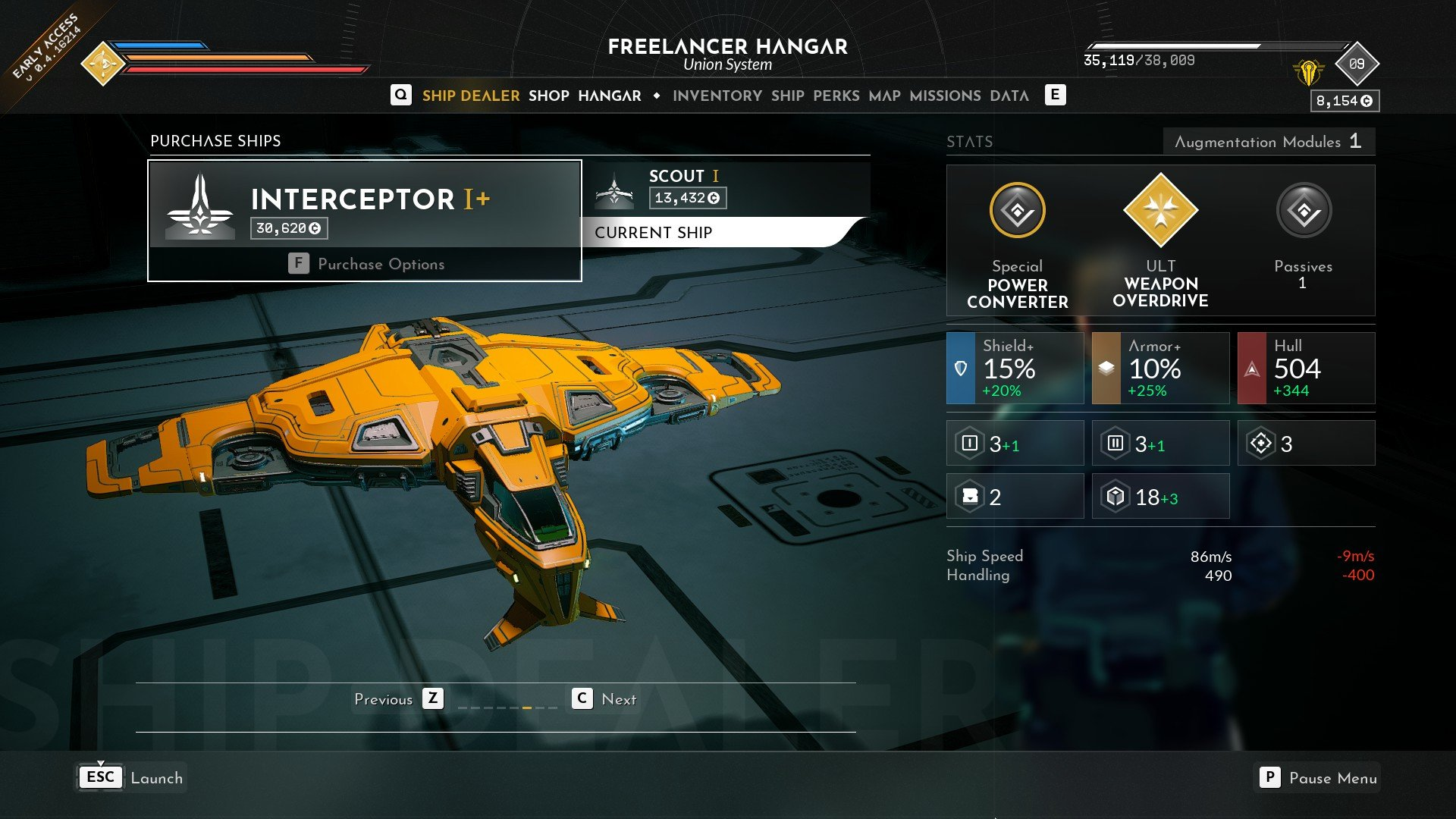 Everspace 2 Interceptor I+ Freelancer