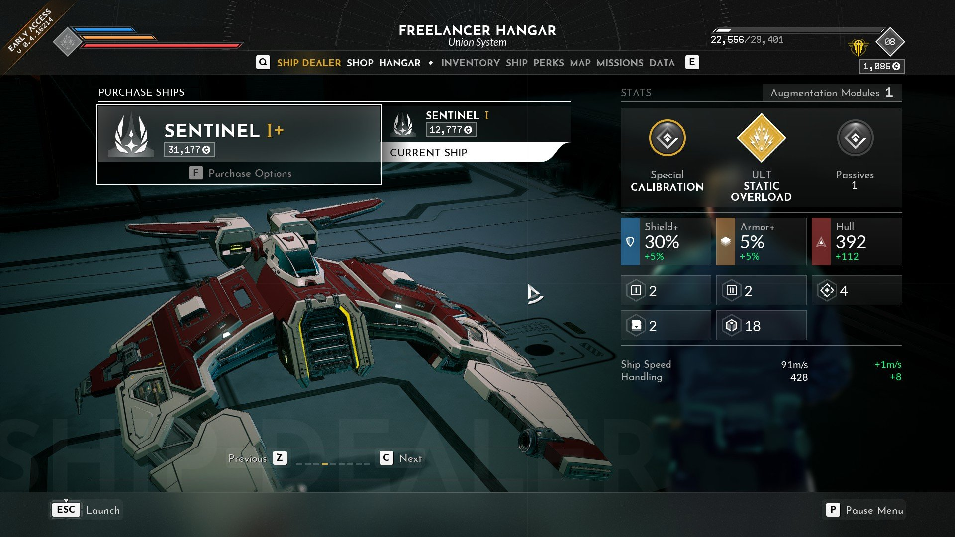 Everspace 2 Sentinel I+ Freelancer