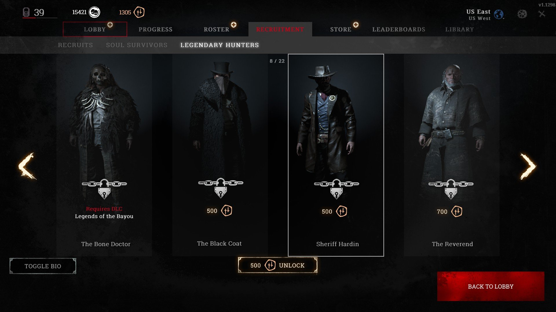 Hunt Showdown Legendary Hunters