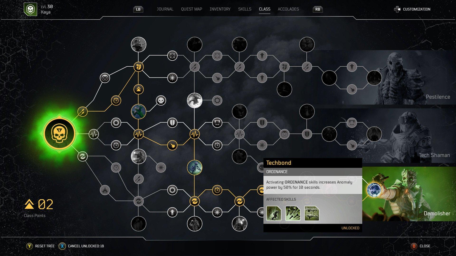 Outriders - Skill Tree Screenshot