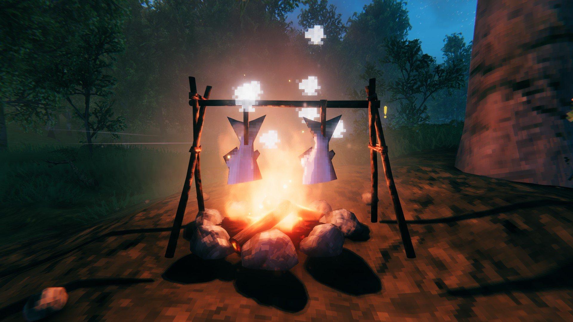 Valheim - Cooked Fish Campfire