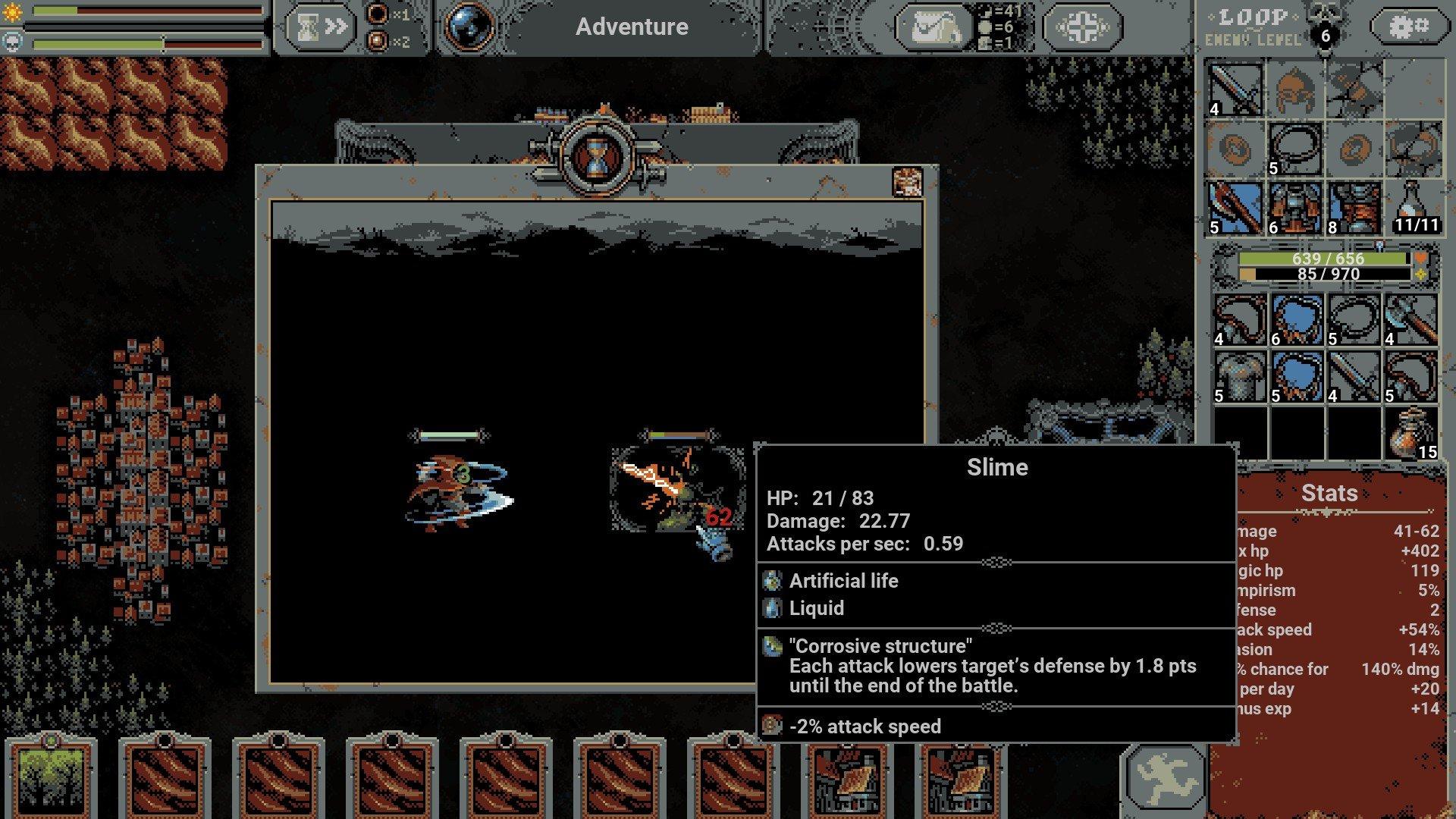 Loop Hero - Blood Lightning Screenshot