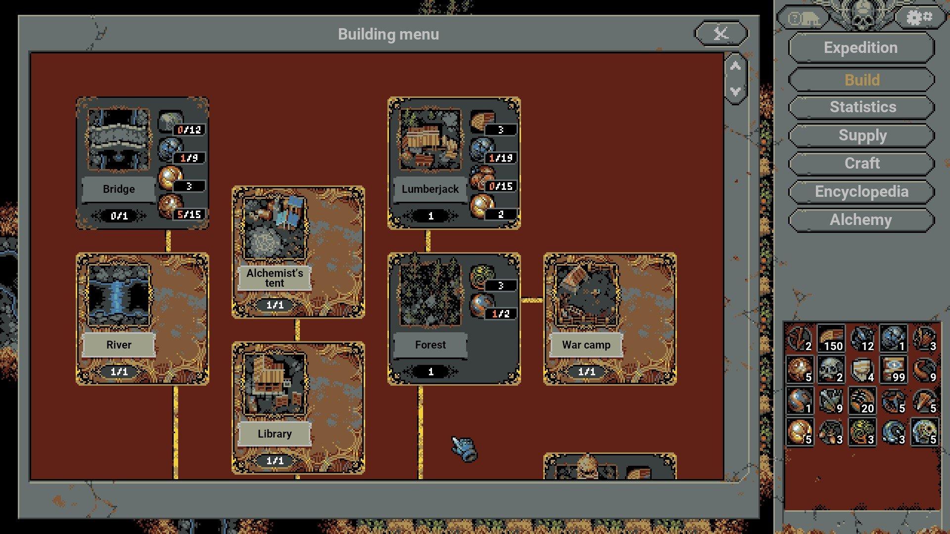 Loop Hero - Camp Buildings Screenshot