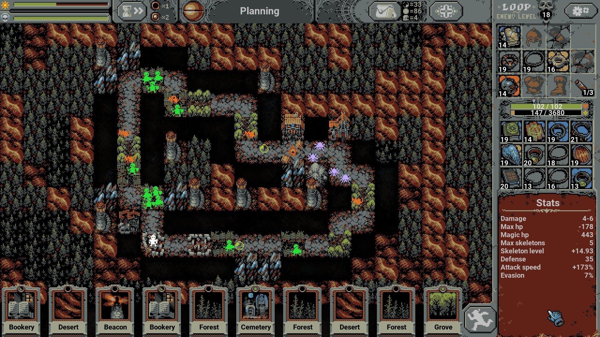 Loop Hero - Necromancer Screenshot