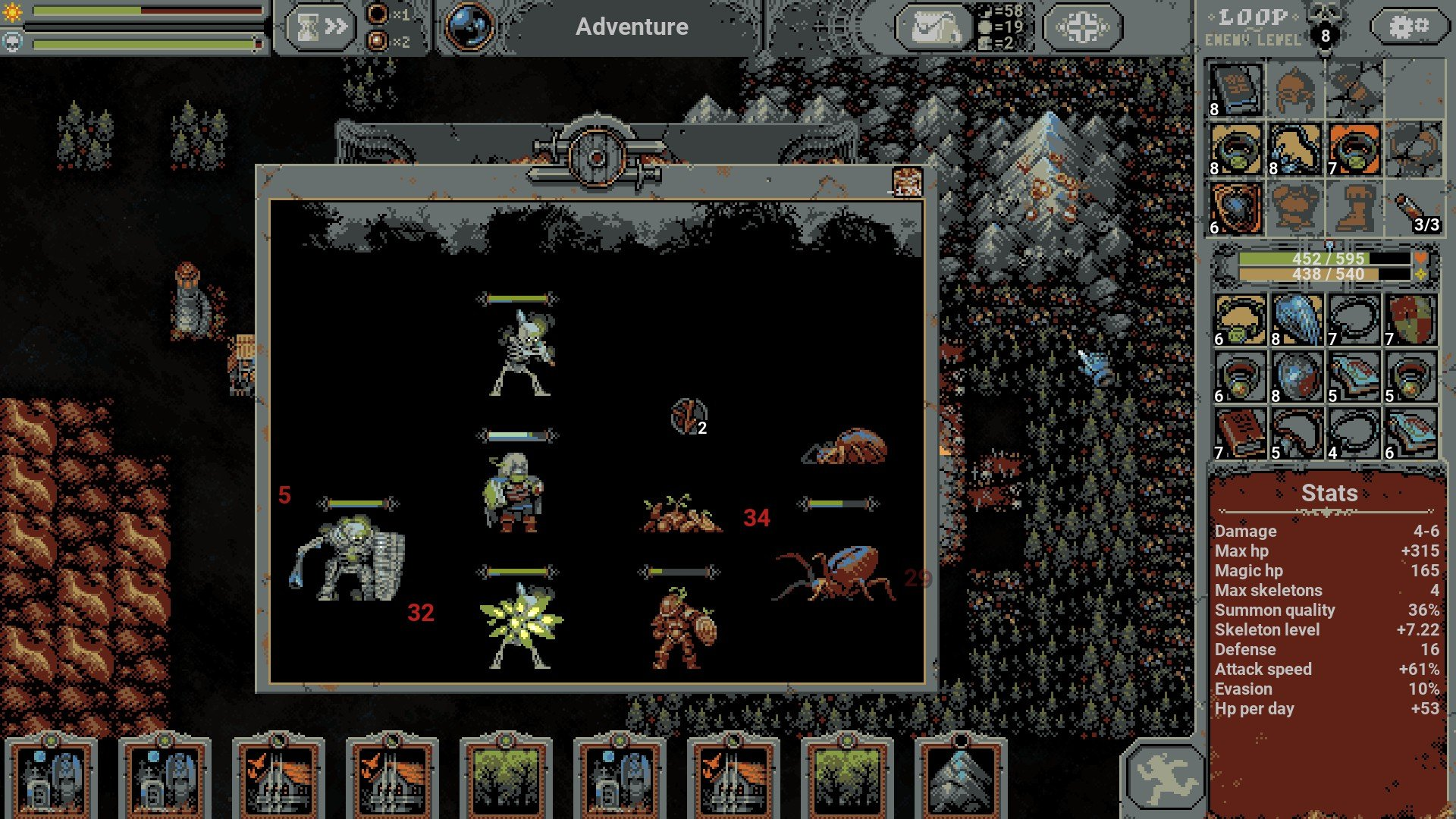 Loop Hero - Skeleton Quality Types