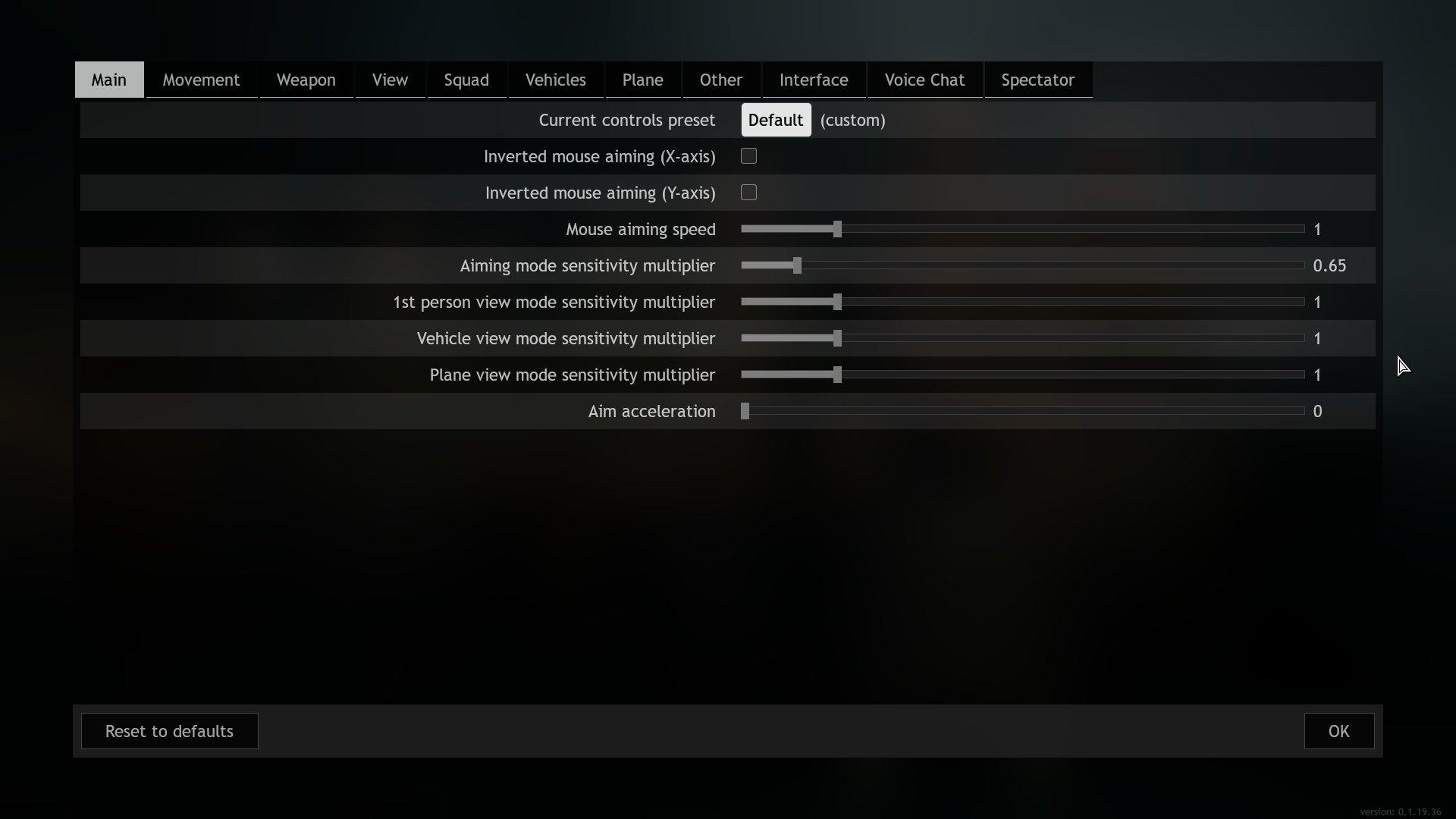 Enlisted - Controls Mouse Sensitivity Options