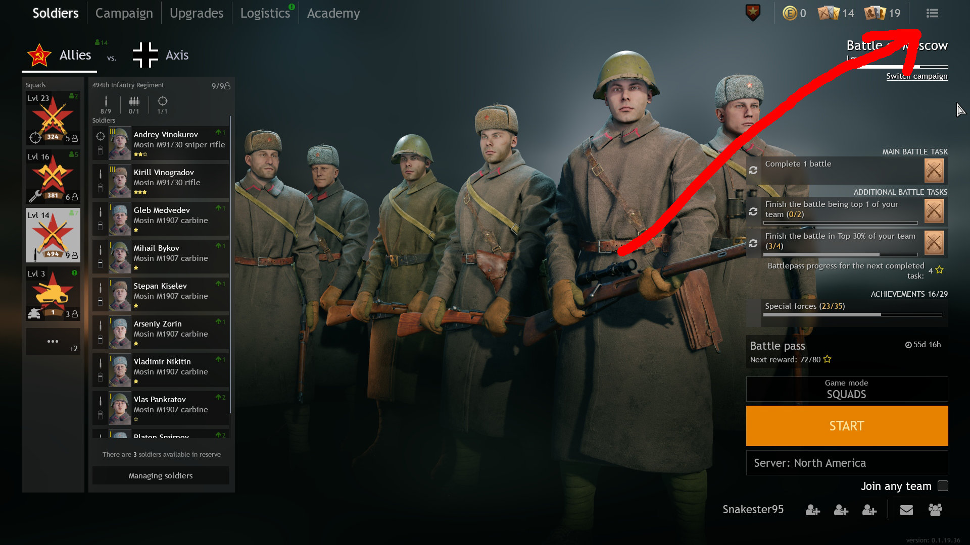 Enlisted - Mouse Sensitivity Lobby