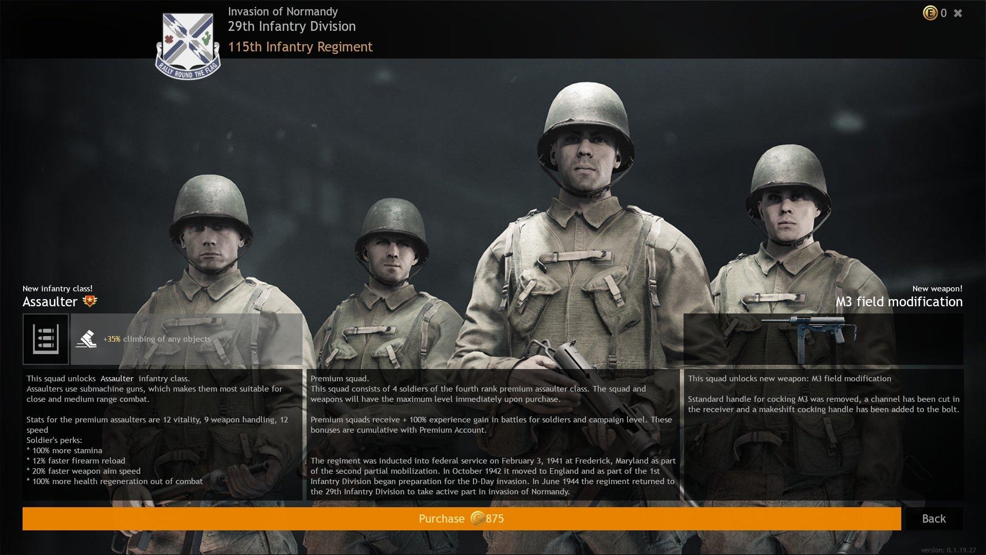 Enlisted - Premium Squad Infantry