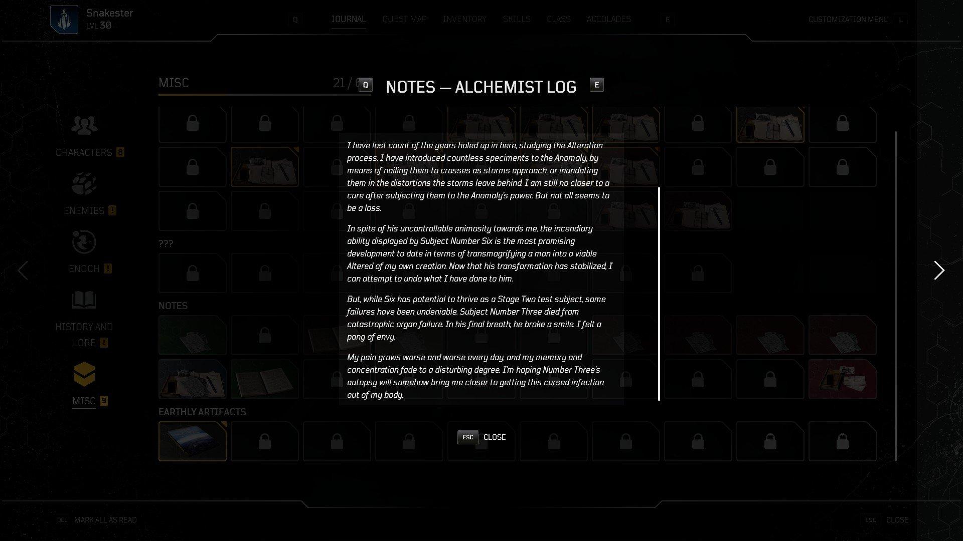 Outriders - Alchemist Journal 2