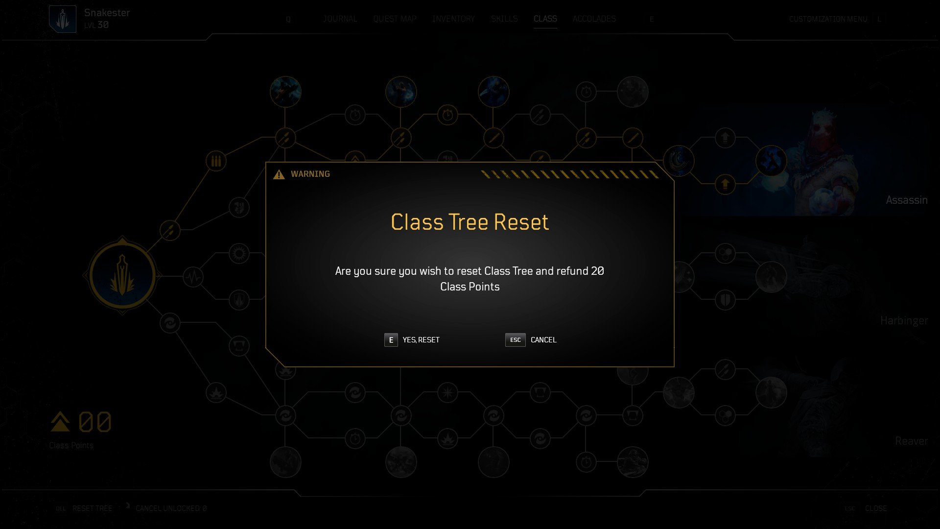 Outriders - Class Tree Reset Free