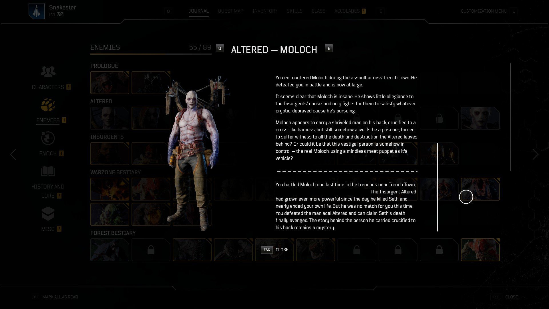Outriders - Moloch Character Lore