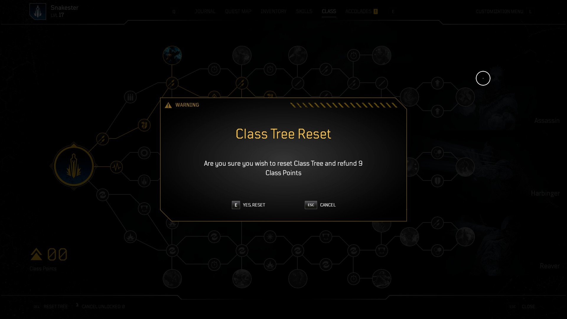 Outriders - Reset Class Points