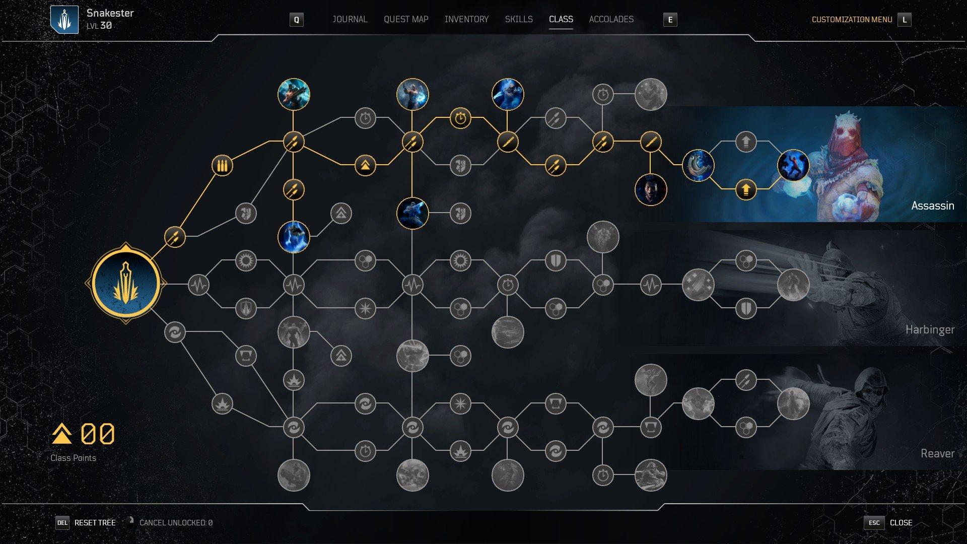 Outriders - Trickster Class Tree Screenshot