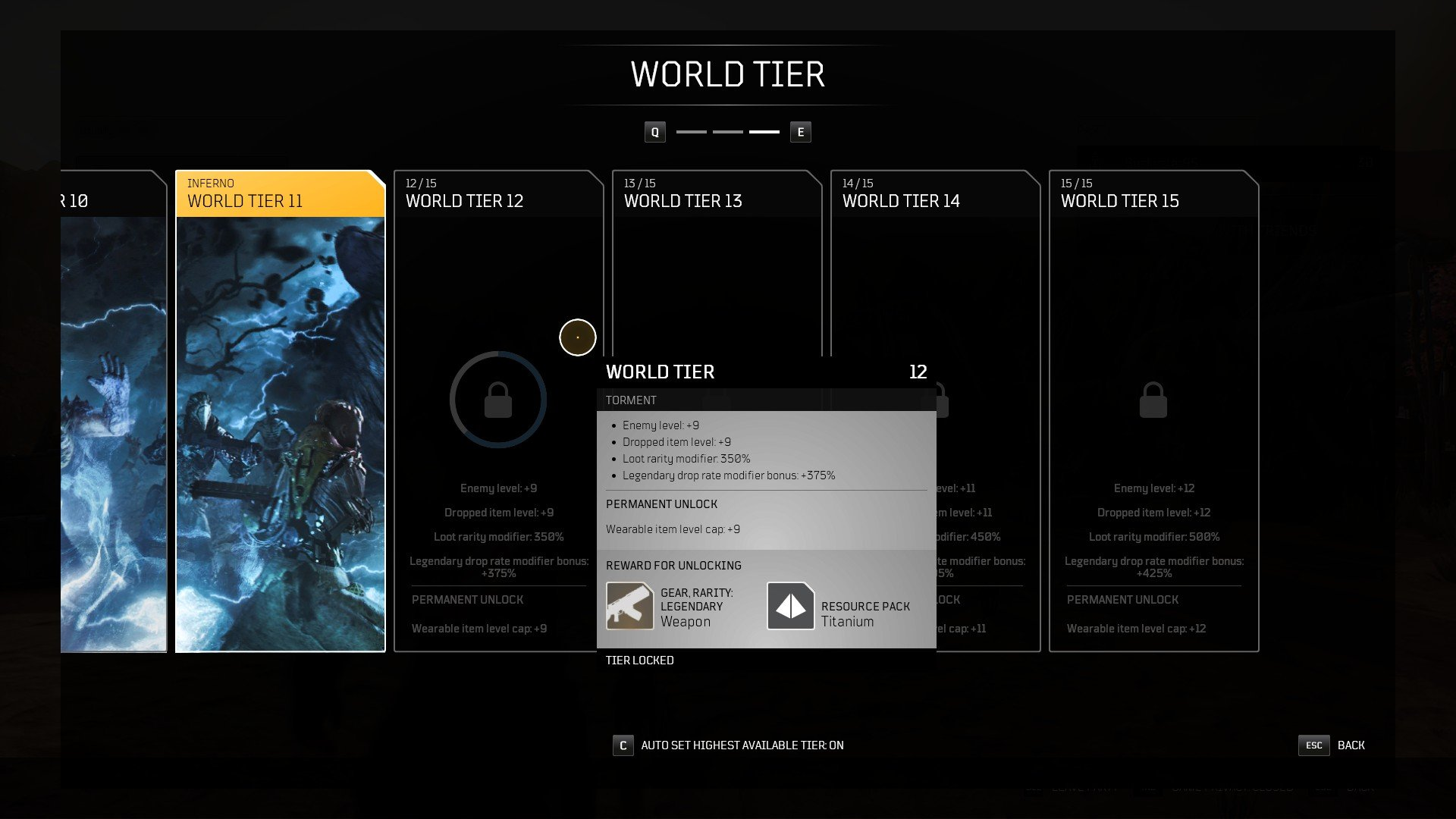 Outriders - World Tier Rewards Titanium